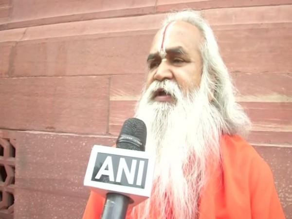 Ram Janmabhoomi Nyas member Ram Vilas Vedanti while speaking to ANI on Tuesday (Photo/ANI)
