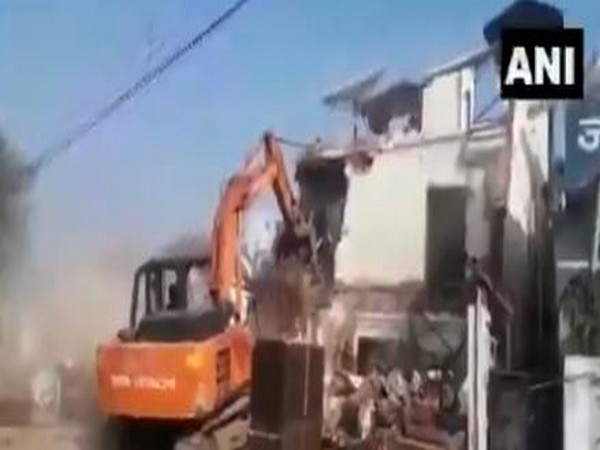 Visuals from the demolition. (Photo/ANI)