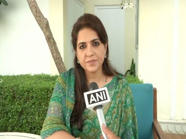 Bharatiya Janata Party (BJP) Spokesperson, Shaina NC while speaking to ANI on Saturday (Photo/ANI)