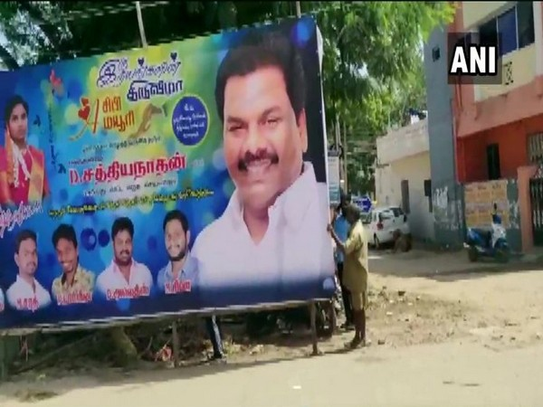 Chennai Corporation starts removing hoardings in the city after court order. Photo/ANI