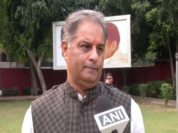 Congress spokesperson Rajiv Tyagi while speaking to ANI on Thursday (Photo/ANI)