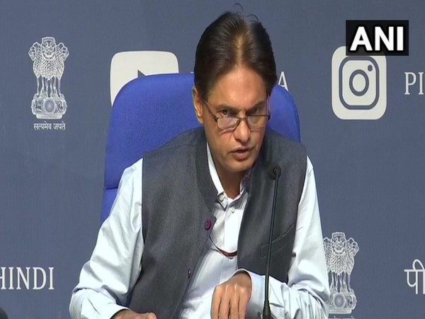 Anil Malik, Ministry of Home Affairs, during a media briefing in New Delhi on Friday. Photo/ANI
