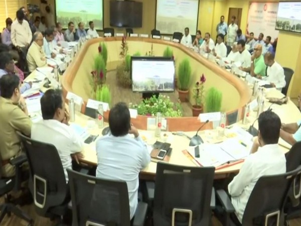 Railway officials conducted a review meeting with MPs including G Kishan Reddy and Nama Nageswar Rao in Hyderabad, Telangana. (Photo/ANI)