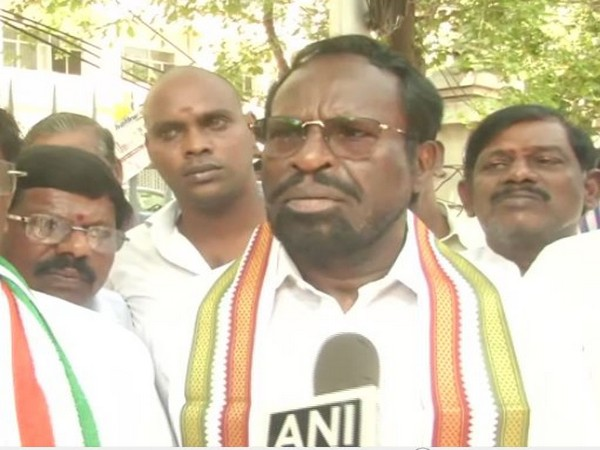 Congress MP and TNCC chief Dr K Jayakumar during anti-CAA rally in Chennai on Monday. Photo/ANI