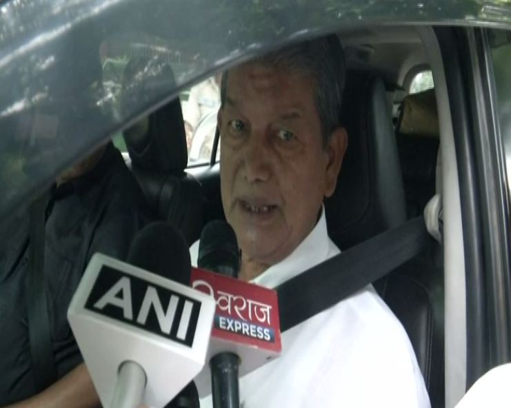 Former Uttarakhand Chief Minister Harish Rawat while speaking to reporters on Monday. (Photo/ANI)