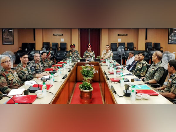 Northern Army Commander Lt Gen Ranbir Singh chaired a meeting on Tuesday to review operational readiness. Photo/ANI