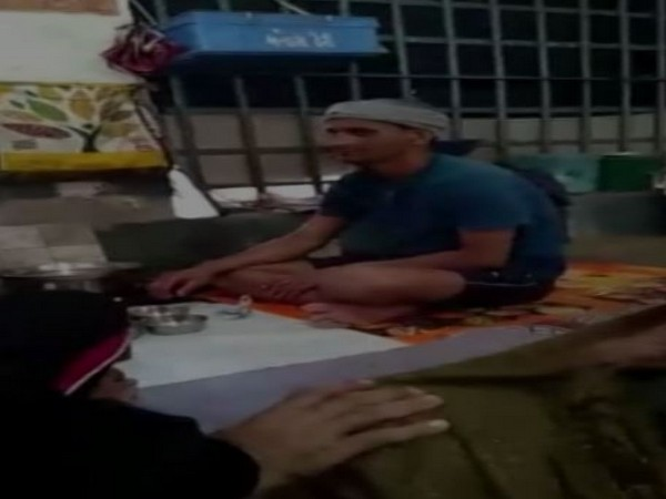 A grab from the video of 'drug party' inside Jodhpur jail.