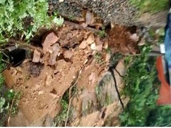 The visual of landslide (Photo/ANI)