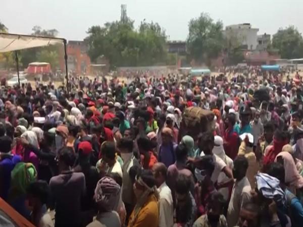 Visuals from Ghaziabad's Ramlila Ground (Photo/ANI)
