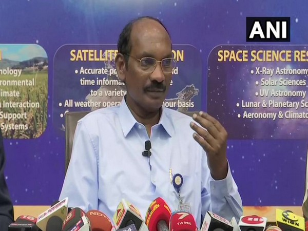 ISRO chairman Dr K Sivan while speaking to the reporters in Bengaluru on Wednesday (ANI)