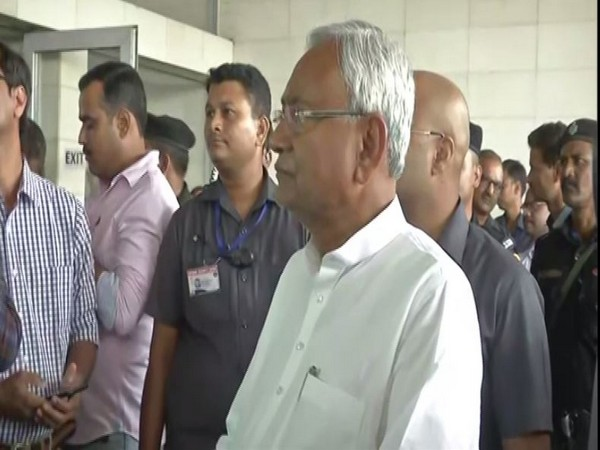 Bihar CM Nitish Kumar speaks to media in Patna on Tuesday. [Photo/ANI]