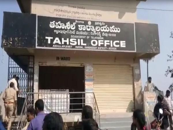 A woman tehsildar was set ablaze in Abdullapurmet MRO office on Monday.