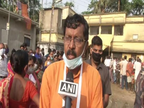 BJP candidate Dipak Haldar speaking to ANI