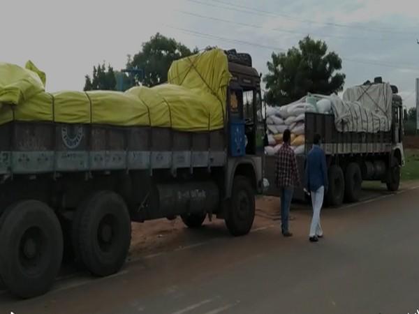 Seized lorries (Photo/ANI)