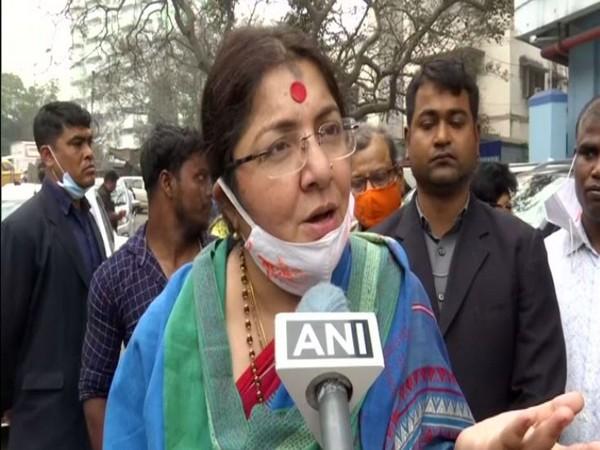 BJP MP Locket Chatterjee speaking to ANI