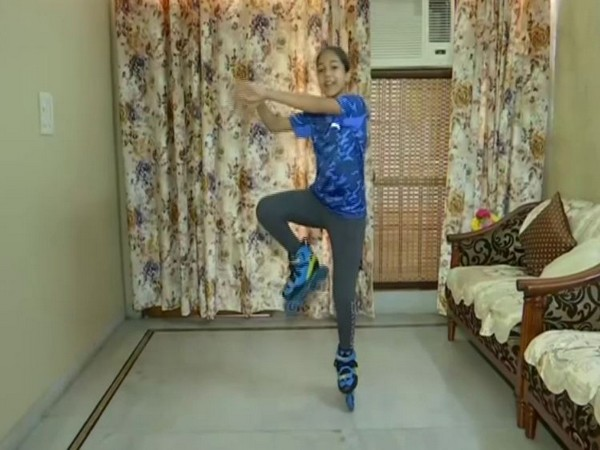 Janvi Jindal performing dance moves while skating (Photo/ANI)