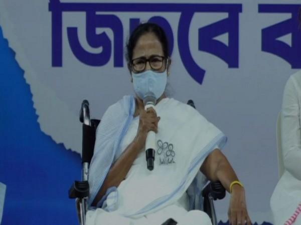 West Bengal Chief Minister Mamata Banerjee addressing a virtual rally (Photo/ANI)