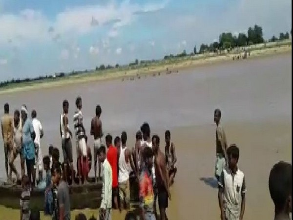 The boat carrying 19 people capsized in Sarayu river on July 28. Photo/ANI