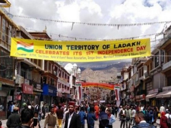 The visual of a street in Leh. File photo/ANI