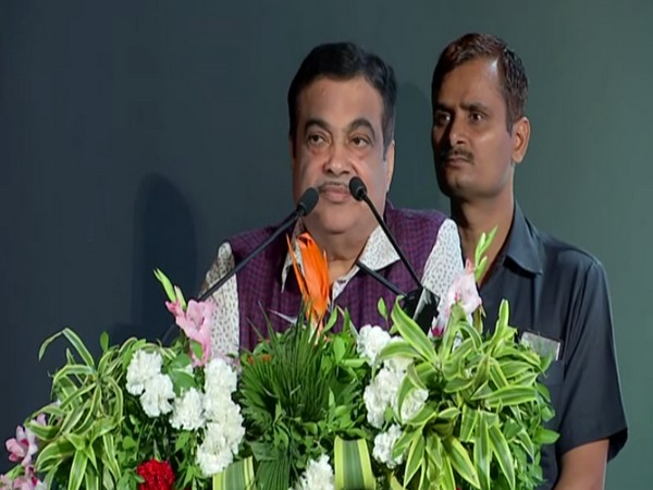 Union Minister Nitin Gadkari speaking at Sugar Conference 20-20 in Pune, Maharashtra (Photo/ANI)