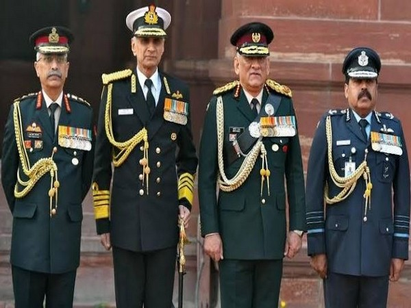 File pic of Chief of Defence Staff (CDS) General Bipin Rawat with the three services chiefs.