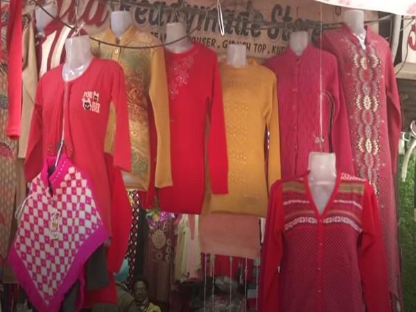 Visual from a woolen wear shop in Ludhiana, Punjab (Photo/ANI)