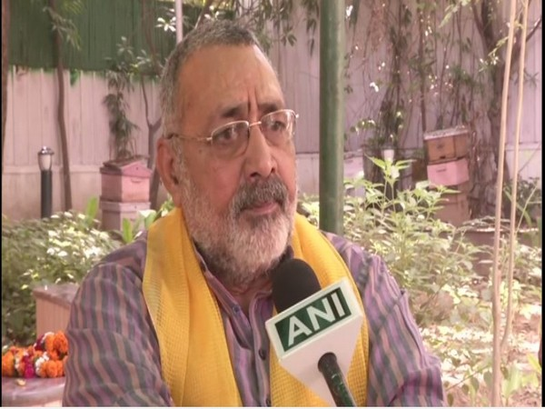Begusarai MP Giriraj Singh speaks to ANI in New Delhi on Tuesday. [Photo/ANI]