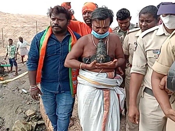 The idol of Lord Ram was allegedly desecrated at Ramateertham in Vizianagaram, Andhra Pradesh. (File Photo/ANI)