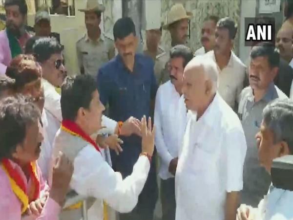 Karnataka Chief Minister BS Yediyurappa met pro-Kannada activists on Thursday (Photo/ANI)