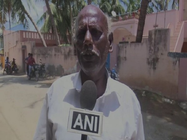 S Muruganantham, State President of Tamil Nadu Sea Workers Association while speaking to ANI on Sunday. (Photo/ANI)
