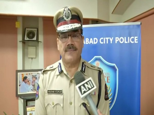 Anjani Kumar, Commissioner of Police, Hyderabad City while speaking to ANI on Saturday (Photo/ANI)