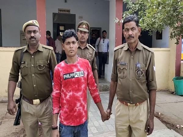 Accused man arrested by Uttar Pradesh Police (Photo/ANI)
