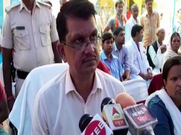 District Magistrate (DM) Naveen Kumar while speaking to the reporters on Thursday. (Photo/ANI)