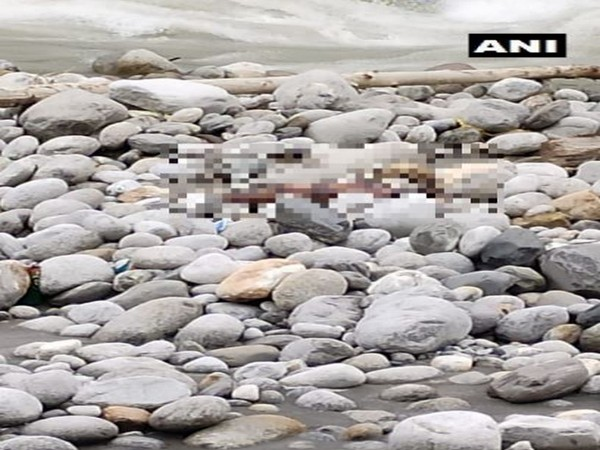 One significantly decomposed unidentified body of an adult male was evacuated from Beas River on Sunday. (Photo/ANI)