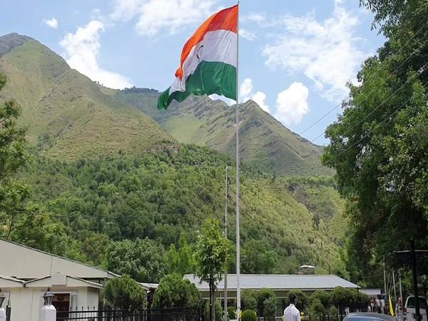 National flag installed at Kaman Post (Photo/ANI)