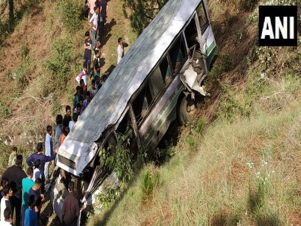 The school bus which met an accident in Shimla earlier on Monday (File Photo)