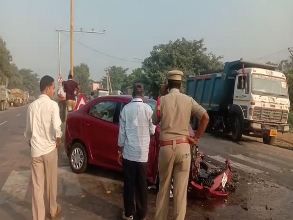 Police personnel reached at the accident site to probe the incident (Photo/ANI)