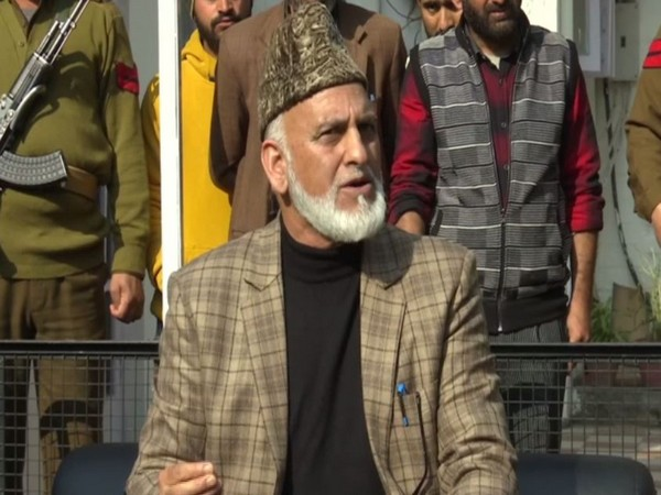 Senior Congress leader from Jammu and Kashmir GM Saroori while speaking to reporters on Wednesday (Photo/ANI)