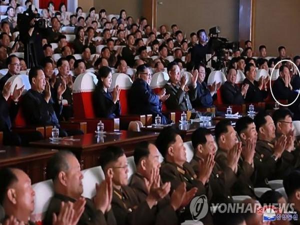 North Korea leader Kim Jong-un along with various top North Korea's official and Kim Yong ChoI