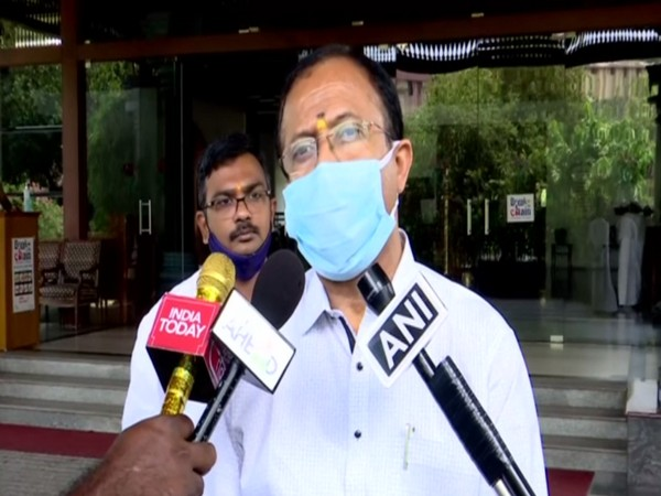 Union Minister of State for External Affairs V Murleedharan speaking to reporters on Thursday.