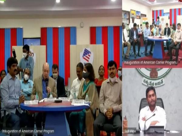 Andhra Pradesh Chief Minister YS Jagan Mohan Reddy virtually launched American Corner at Andhra University