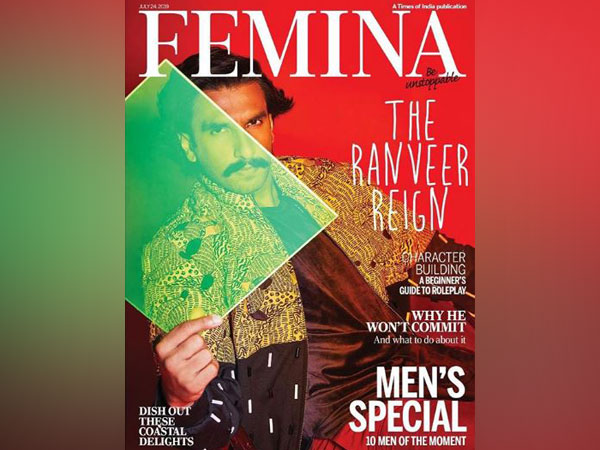 Ranveer Singh on the cover of Femina magazine (Source: Instagram)