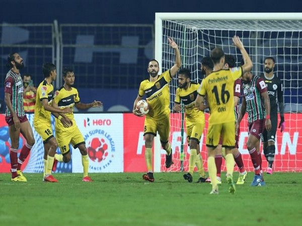 HFC players celebrate their equaliser against ATKMB  (Image: ISL)