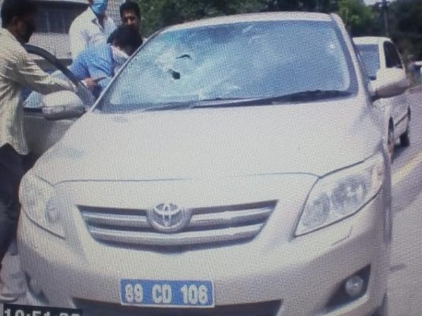 Car seized by the Indian authorities form the two officials of High Commission of Pakistan, who were apprehended for indulging in espionage activities.