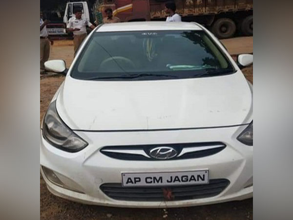 Case registered against an individual for driving a car with 'AP CM JAGAN' written on it, in place of the vehicle's registration number.