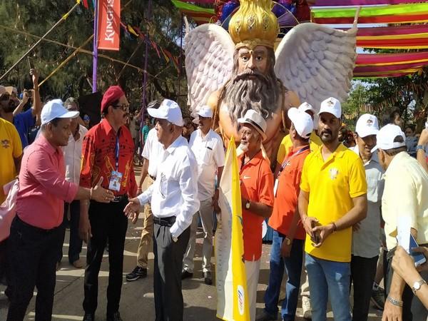 Goa Tourism Minister flags off arnival Float Parade Photo/ANI