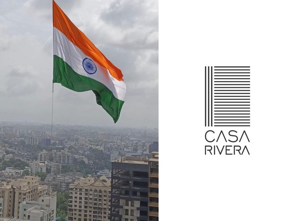 Gujarat's highest tricolour hoisted at 321 feet on the tallest residential building in Surat, Casa Rivera by Vasu Pujya and Marvela Group