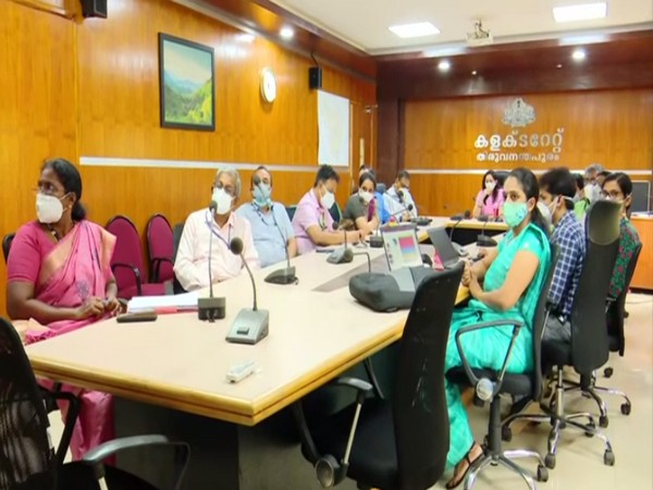 Central Health Team in meeting with Kerala State Officials regarding Covid-19 vaccination and Serosurveys in the state