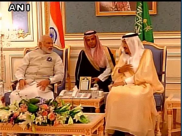 Prime Minister Narendra Modi and Saudi King Salman Bin Abdulaziz Al Saud