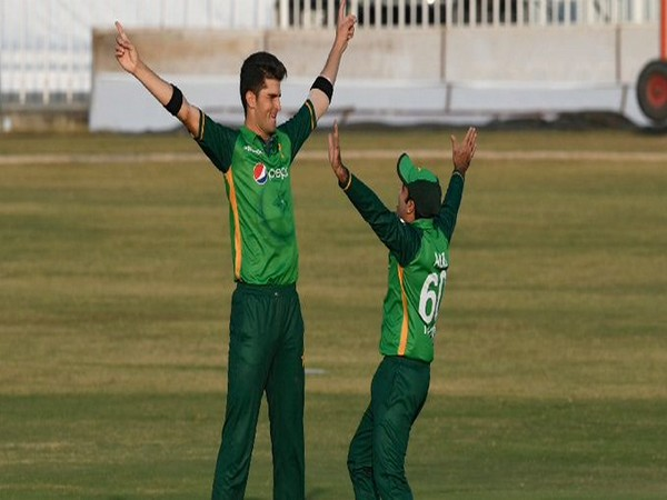 Shaheen Shah Afridi in action against Zimbabwe (Photo/ ICC Twitter)